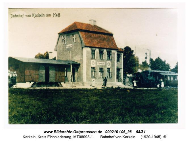 Karkeln am Karkelstrom, Bahnhof von Karkeln