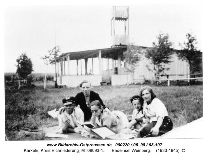 Karkeln am Karkelstrom, Badeinsel Weinberg