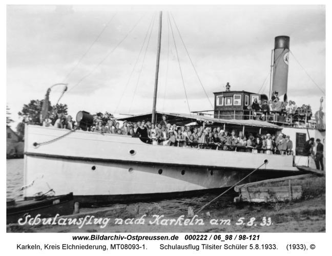 Karkeln am Karkelstrom, Schulausflug Tilsiter Schüler 5.8.1933