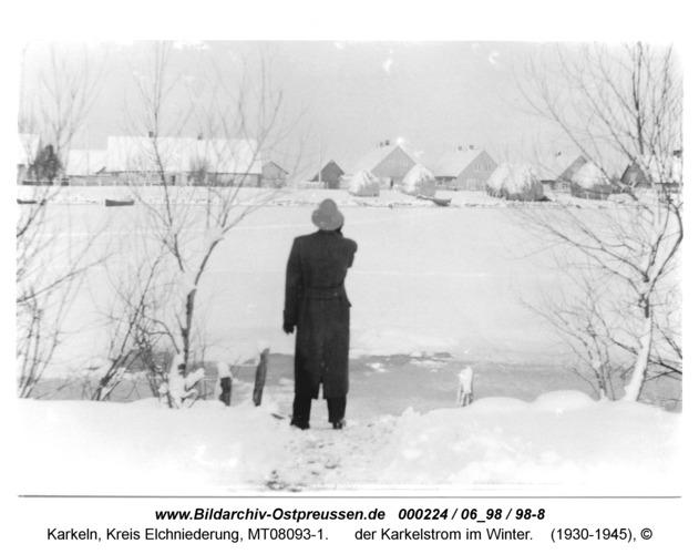 Karkeln, der Karkelstrom im Winter