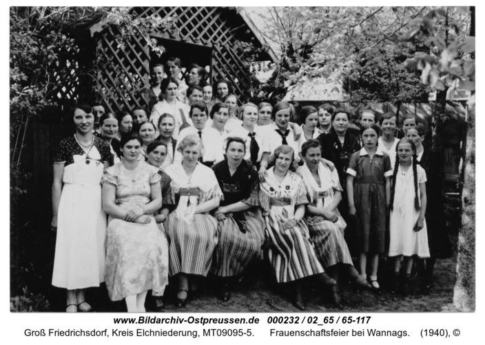 Groß Friedrichsdorf, Frauenschaftsfeier bei Wannags