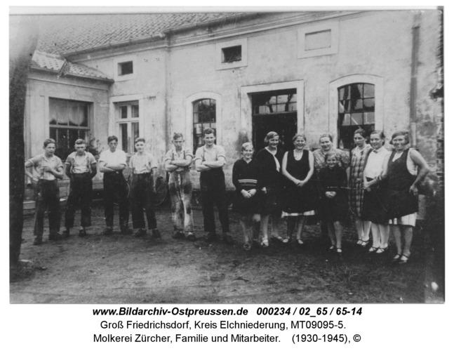 Groß Friedrichsdorf, Molkerei Zürcher, Familie und Mitarbeiter
