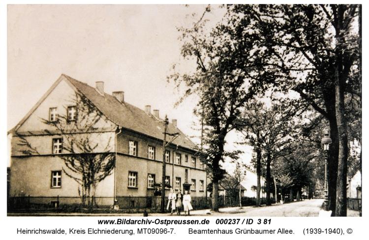 Heinrichswalde, Beamtenhaus Grünbaumer Allee