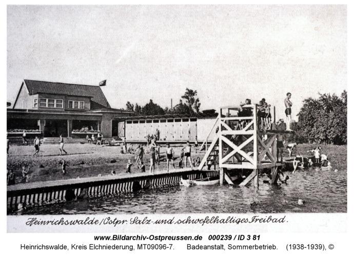 Heinrichswalde, Badeanstalt, Sommerbetrieb