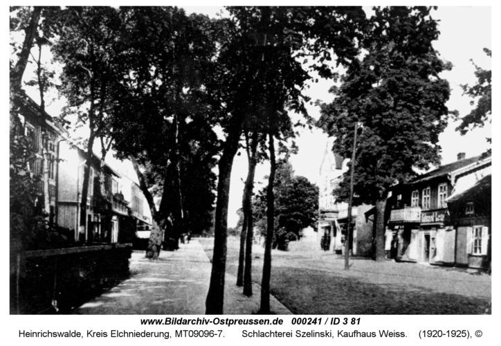 Heinrichswalde, Schlachterei Szelinski, Kaufhaus Weiss