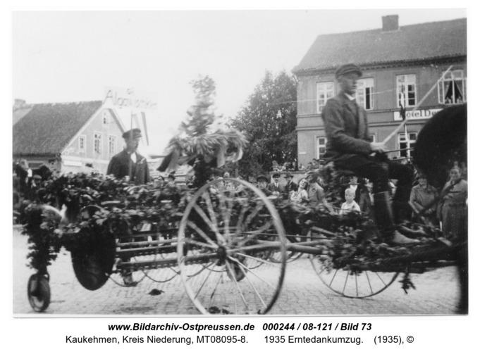 Kaukehmen, 1935 Erntedankumzug