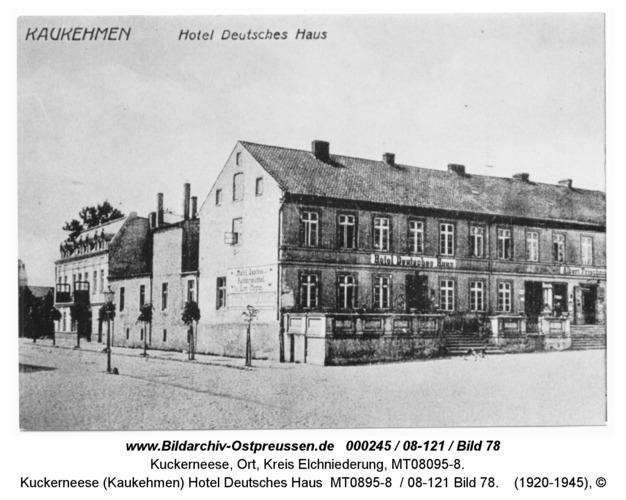 Kuckerneese (Kaukehmen), Hotel Deutsches Haus MT0895-8 / 08-121 Bild 78
