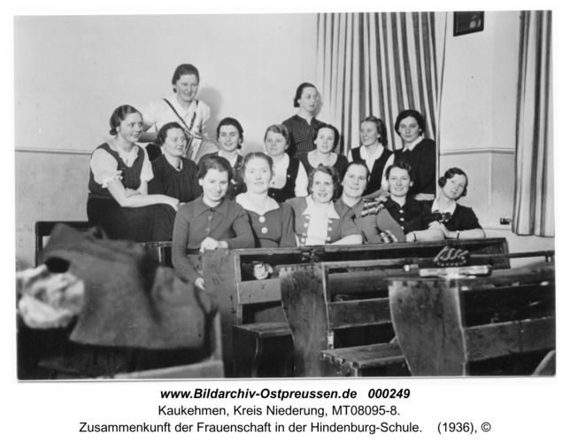 Kuckerneese (Kaukehmen), Zusammenkunft der Frauenschaft