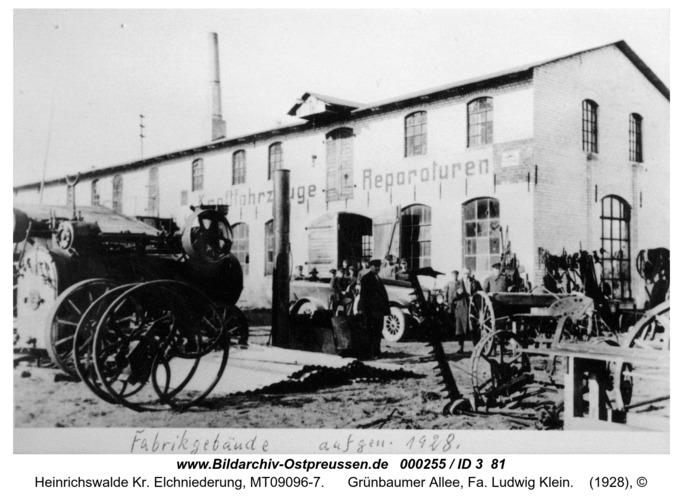 Heinrichswalde, Grünbaumer Allee, Fa. Ludwig Klein