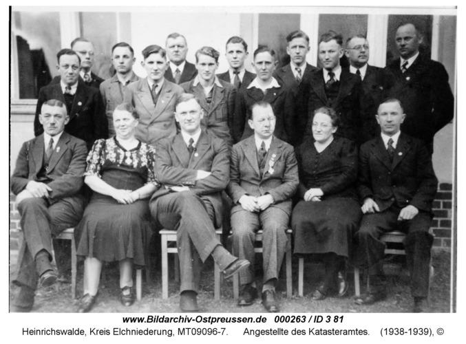 Heinrichswalde, Angestellte des Katasteramtes