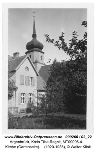 Argenbrück, Kirche (Gartenseite)