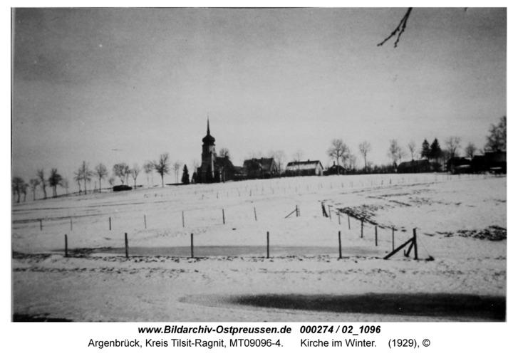 Argenbrück, Kirche im Winter