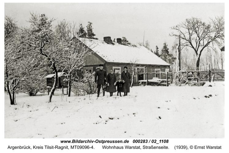 Argenbrück, Wohnhaus Warstat, Straßenseite