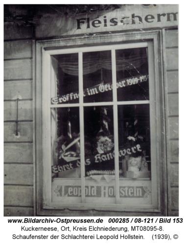 Kuckerneese, Schaufenster der Schlachterei Leopold Hollstein