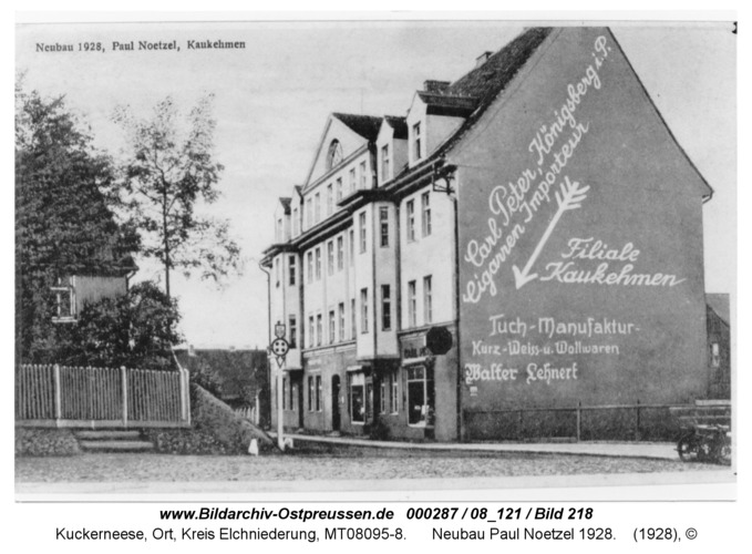 Kaukehmen, Neubau Paul Noetzel 1928