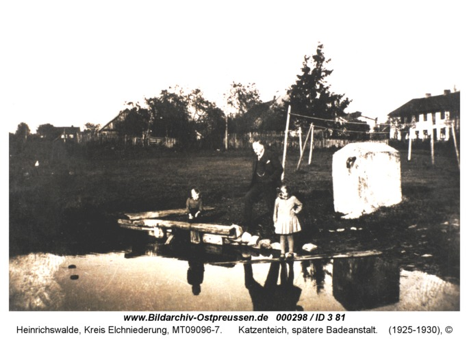 Heinrichswalde, Katzenteich, spätere Badeanstalt