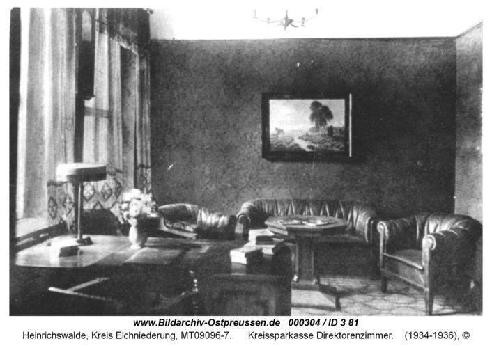 Heinrichswalde, Kreissparkasse Direktorenzimmer
