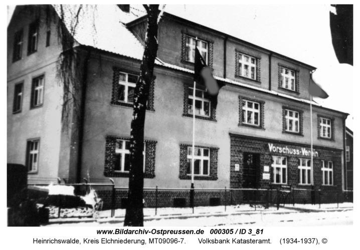 Heinrichswalde, Volksbank Katasteramt