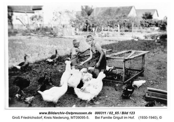 Groß Friedrichsdorf, bei Familie Grigull im Hof
