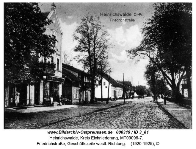 Heinrichswalde, Friedrichstraße, Geschäftszeile westl. Richtung