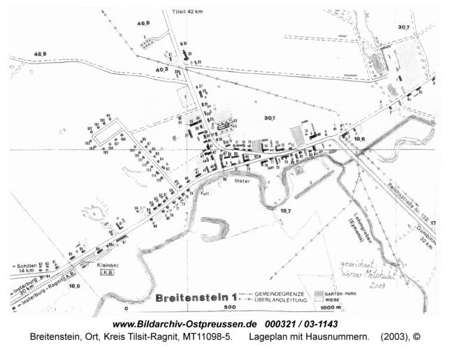 Breitenstein, Lageplan mit Hausnummern