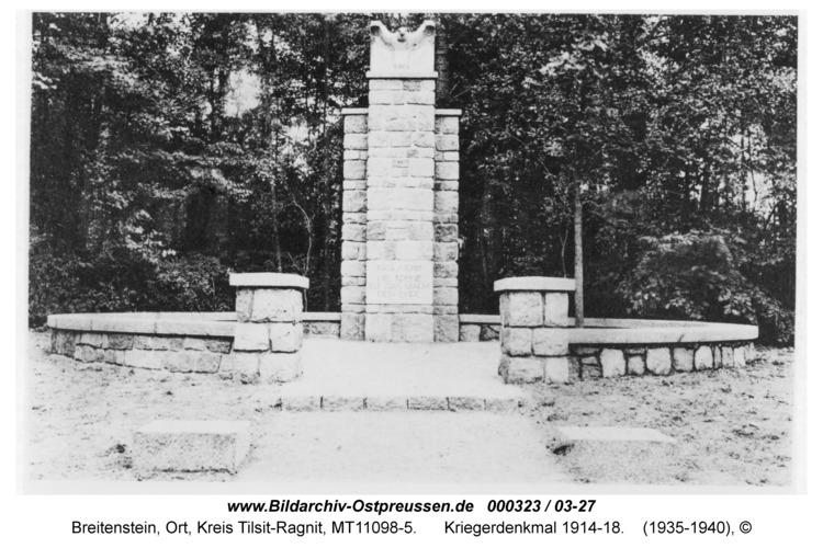 Breitenstein, Kriegerdenkmal 1914-18