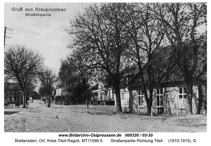 Breitenstein, Straßenpartie Richtung Tilsit
