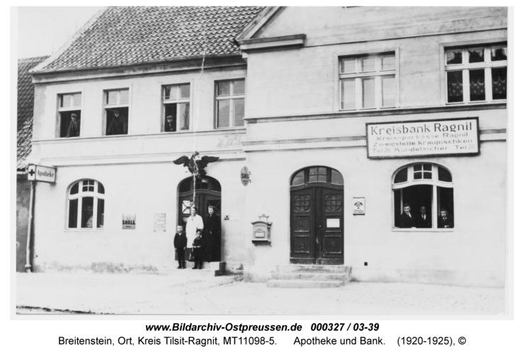 Breitenstein, Apotheke und Bank
