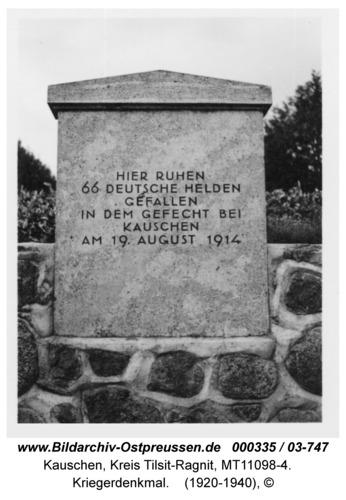 Kauschen, Kriegerdenkmal