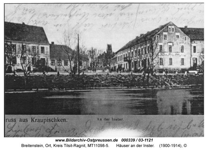 Breitenstein, Häuser an der Inster