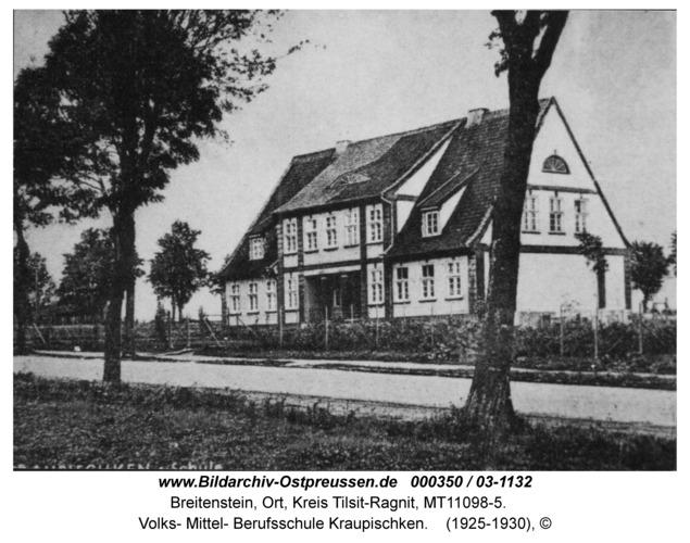 Breitenstein, Volks- Mittel- Berufsschule Kraupischken