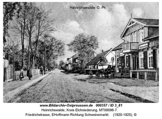 Heinrichswalde, Friedrichstraße, EHoffmann Richtung Schweinemarkt