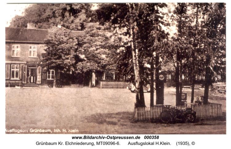Grünbaum, Ausflugslokal H.Klein