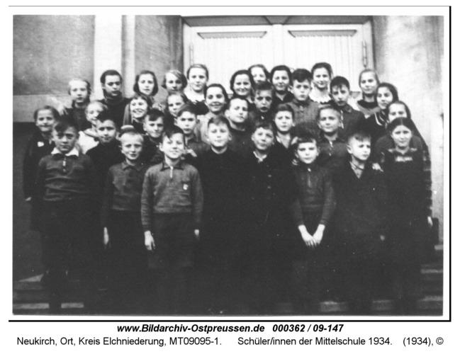 Neukirch, Schüler/innen der Mittelschule 1934