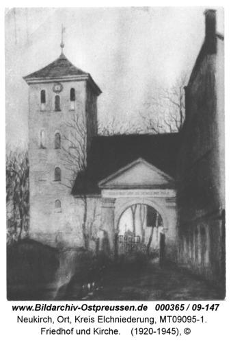 Neukirch, Friedhof und Kirche