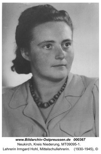 Neukirch, Lehrerin Irmgard Hohl, Mittelschullehrerin