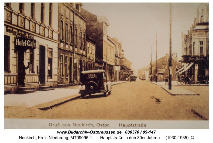 Neukirch, Hauptstraße in den 30er Jahren