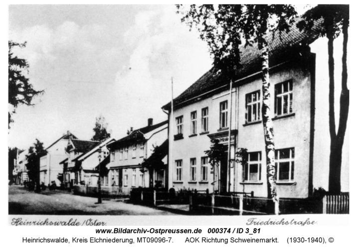 Heinrichswalde, AOK Richtung Schweinemarkt