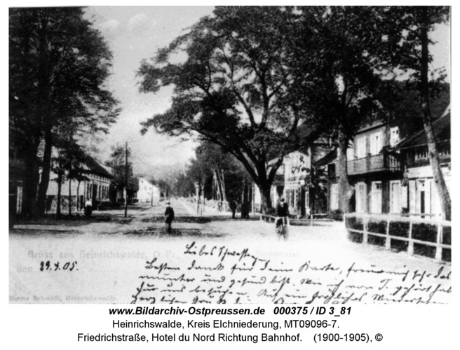 Heinrichswalde, Friedrichstraße, Hotel du Nord Richtung Bahnhof