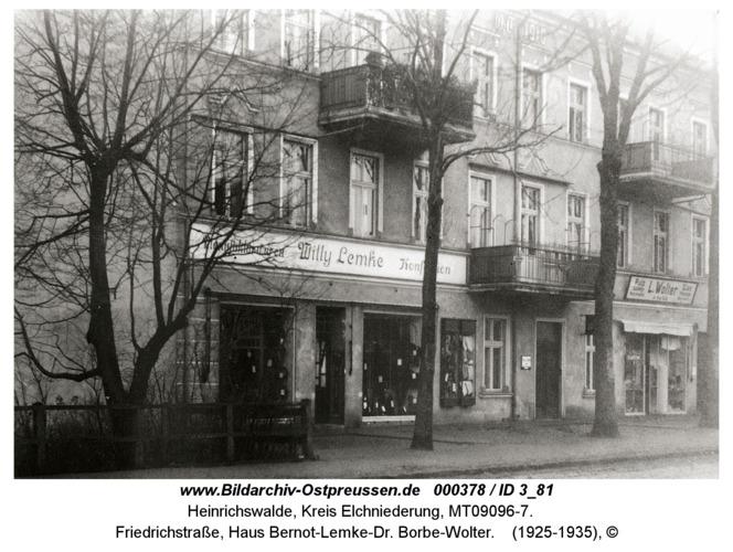 Heinrichswalde, Friedrichstraße, Haus Bernot-Lemke-Dr. Borbe-Wolter