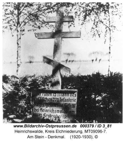 Heinrichswalde, Am Stein - Denkmal