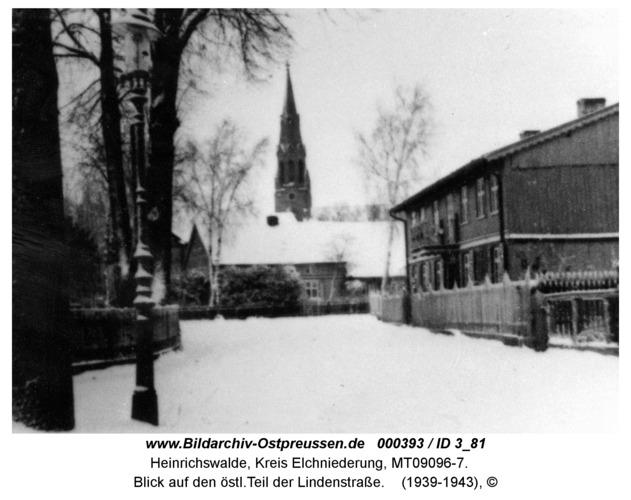 Heinrichswalde, Blick auf den östl.Teil der Lindenstraße