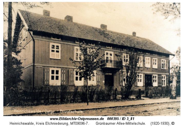 Heinrichswalde, Grünbaumer Allee, Mittelschule