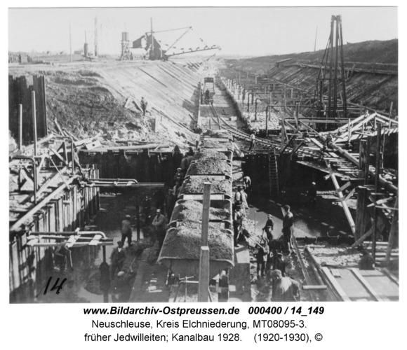 Neuschleuse, früher Jedwilleiten; Kanalbau 1928