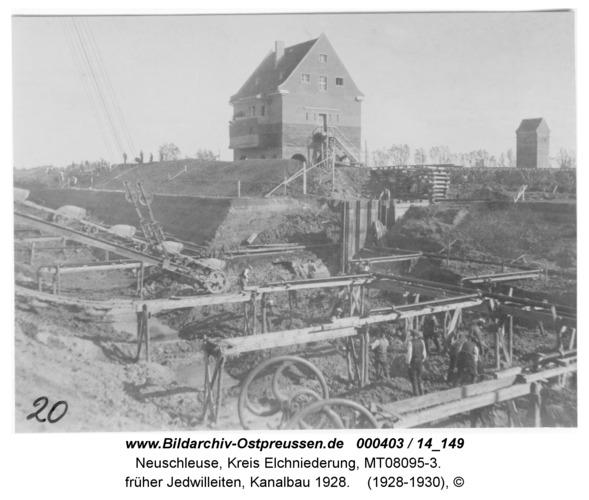 Neuschleuse, früher Jedwilleiten, Kanalbau 1928