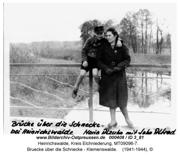 Heinrichswalde, Bruecke über die Schnecke - Klemenswalde