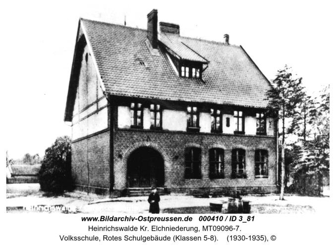 Heinrichswalde, Volksschule, Rotes Schulgebäude (Klassen 5-8)