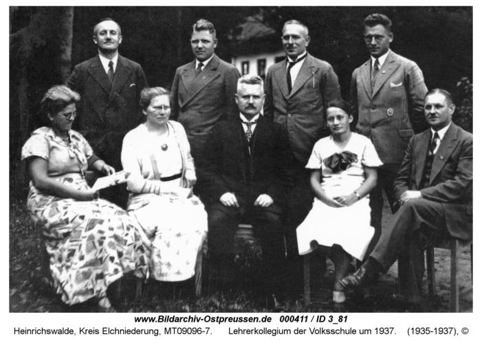Heinrichswalde, Lehrerkollegium der Volksschule um 1937