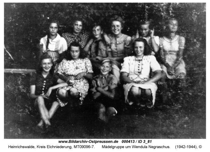 Heinrichswalde, Mädelgruppe um Wendula Negraschus