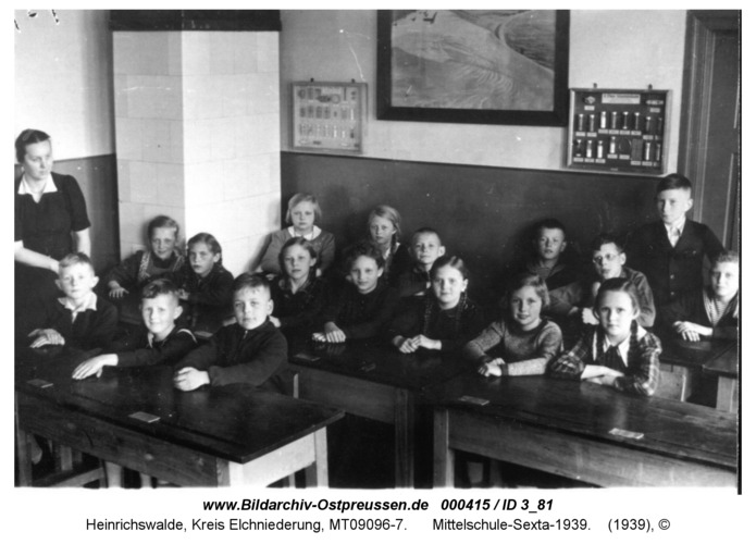 Heinrichswalde, Mittelschule-Sexta-1939